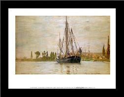 Chasse-Maree at Anchor art print poster with simple frame