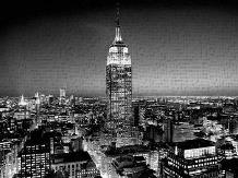 Empire State Building at Night art print poster transferred to canvas