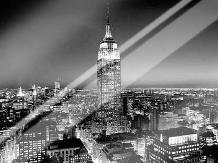Empire State Building at Night art print poster with laminate