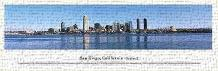 San Diego, California - Series 2 art print poster transferred to canvas