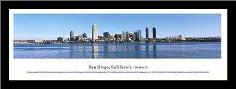San Diego, California - Series 2 art print poster with simple frame