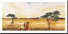 Bhundu Landscape I art print poster with block mounting