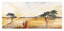 Bhundu Landscape I art print poster with laminate