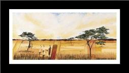 Bhundu Landscape I art print poster with simple frame