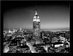 Empire State Building At Night art print poster with simple frame