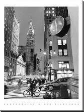 Chrysler Clock, Madison Avenue art print poster with block mounting