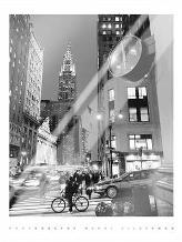 Chrysler Clock, Madison Avenue art print poster with laminate