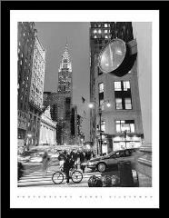 Chrysler Clock, Madison Avenue art print poster with simple frame