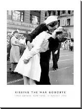 Kissing The War Goodbye art print poster with block mounting