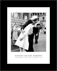 Kissing The War Goodbye art print poster with simple frame