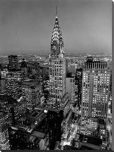 Chrysler Building art print poster with block mounting