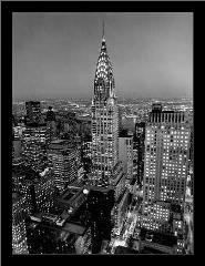 Chrysler Building art print poster with simple frame