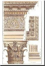 Corinthian Columns Hc art print poster with block mounting