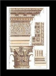 Corinthian Columns Hc art print poster with simple frame
