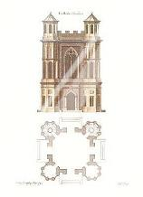 Gothic Elevations Plans {H} art print poster with laminate