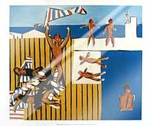 The Bathers 1943 art print poster with laminate