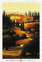 Green Hills Of Tuscany I art print poster transferred to canvas