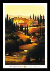 Green Hills Of Tuscany I art print poster with simple frame