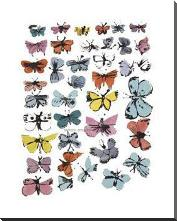 Butterflies, 1955 art print poster with block mounting