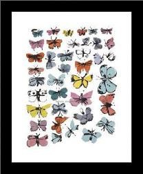 Butterflies, 1955 art print poster with simple frame