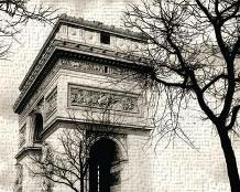 Arc De Triumphe art print poster transferred to canvas