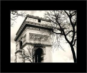 Arc De Triumphe art print poster with simple frame