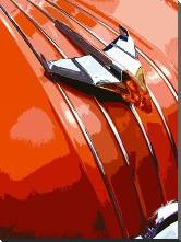 Tail Fins And Two Tones V art print poster with block mounting