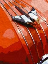 Tail Fins And Two Tones V art print poster transferred to canvas