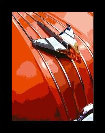 Tail Fins And Two Tones V art print poster with simple frame