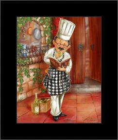 Chefs With Wine II art print poster with simple frame