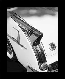 Auto-Retro IV art print poster with simple frame