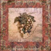 Tuscany Grapes art print poster transferred to canvas