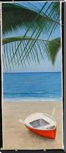 Escape To Paradise I art print poster with block mounting