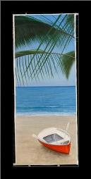 Escape To Paradise I art print poster with simple frame
