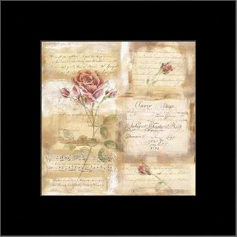 Rose Concerto I art print poster with simple frame