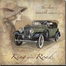 King Of The Road art print poster with block mounting