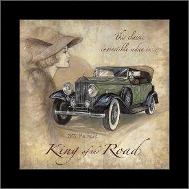 King Of The Road art print poster with simple frame