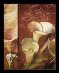 Calla Composite II art print poster with simple frame
