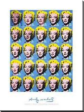 Twenty-Five Colored Marilyns, 1962 art print poster with block mounting
