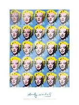 Twenty-Five Colored Marilyns, 1962 art print poster with laminate