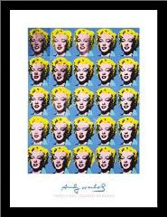 Twenty-Five Colored Marilyns, 1962 art print poster with simple frame