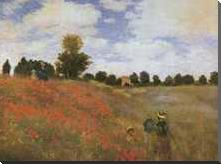 Poppy Field, 1873 art print poster with block mounting