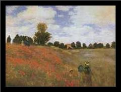 Poppy Field, 1873 art print poster with simple frame