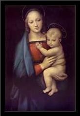 Madonna of Granduca art print poster with simple frame