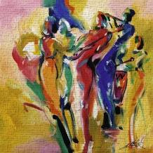 Jazz Explosion I art print poster transferred to canvas