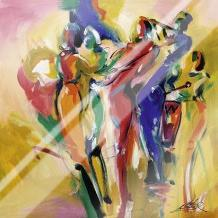 Jazz Explosion I art print poster with laminate