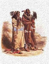 Mandan Indians art print poster transferred to canvas