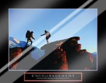 Encouragement - Climbers art print poster with laminate