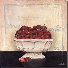 Un Desrt De Fraises art print poster with block mounting