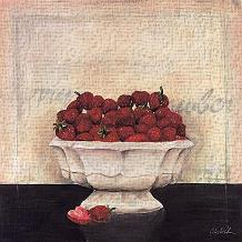 Un Desrt De Fraises art print poster transferred to canvas